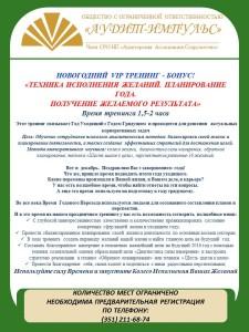 Программа тренинга 24.12.2015